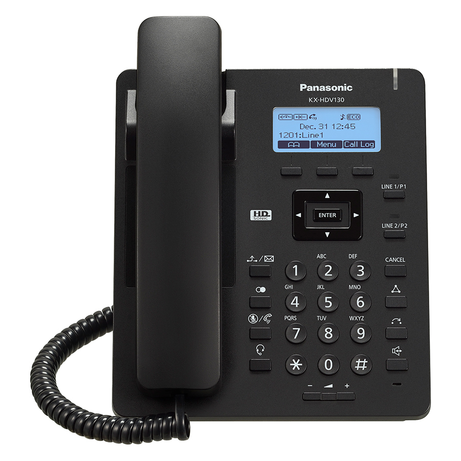 PANASONIC KX-HDV130NEB - Entry SIP-Terminal (2,3 LC-Display mit - 1.jpg